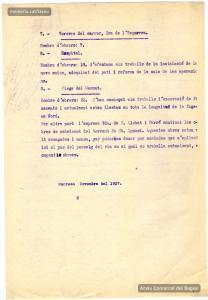 Finals de 1936. Informe sobre les diferents obres en què participen les brigades d'atur forçós.