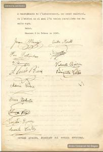 9/2/1937: Instància a l'Ajuntament per part dels obrers de la Sastreria Fornells