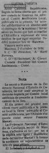 Mostres de suport a la carta de l'alcalde Francesc Marcet