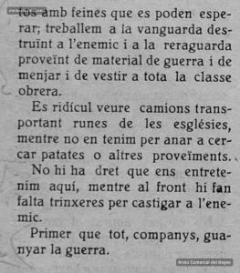 Escrit del regidor de Cultura de l'Ajuntament de Manresa i membre del POUM Carles Costa