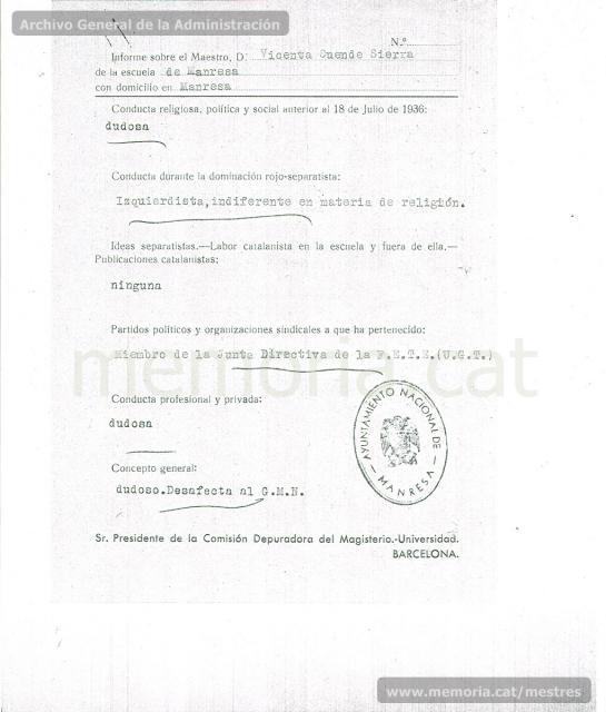 Mes-Vicenta. Informe Ajuntament