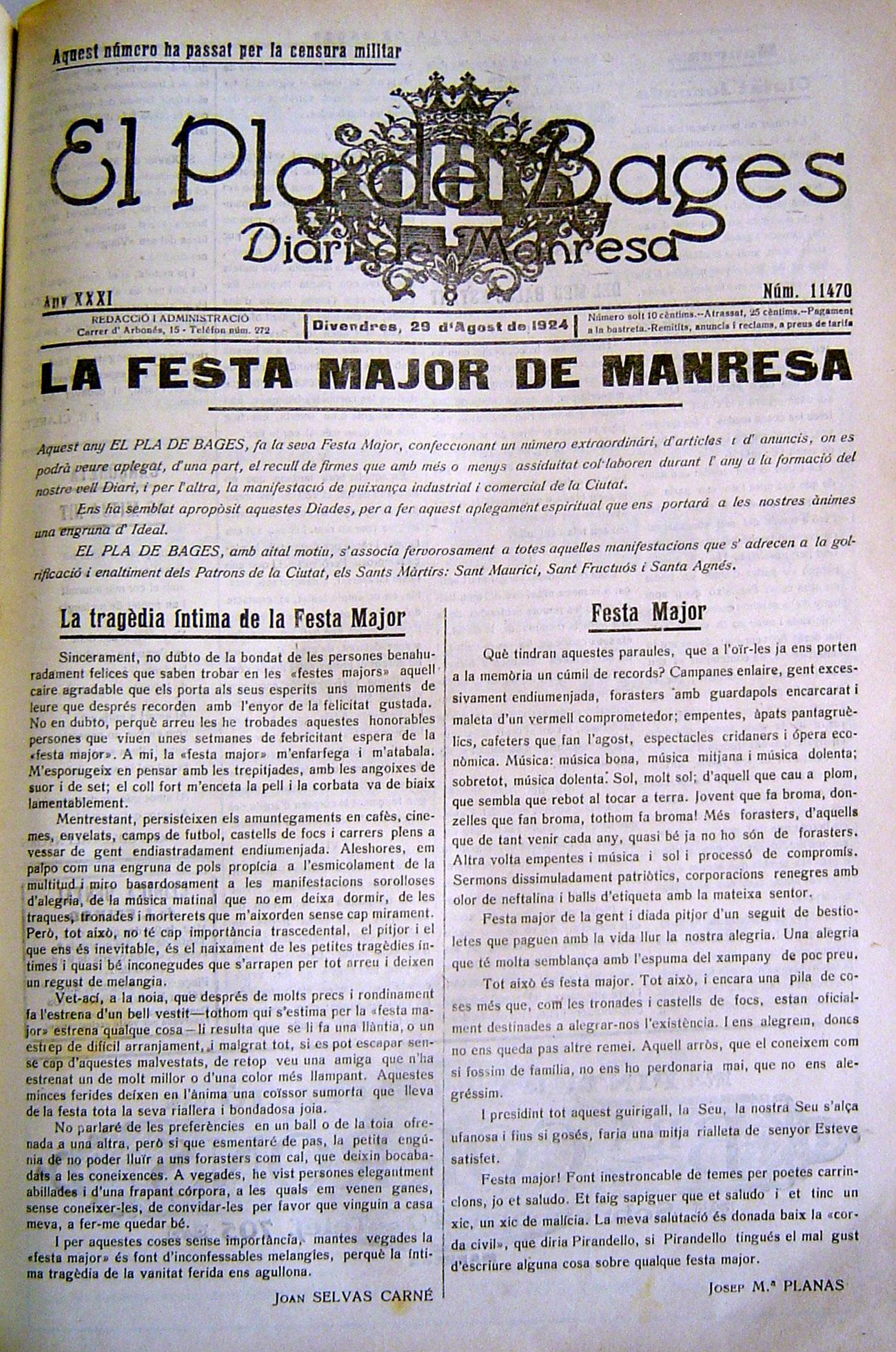 Músiques De Manresa I Més Festa Major